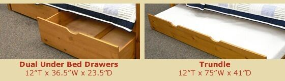 Under Bed Storage Drawers Or Rollout Trundle Multiple Colors By Donco Kids