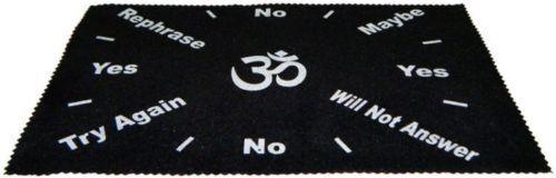 Large Velveteen OM Sign Pendulum Dowsing Divination Mat Wiccan FREE SHIP