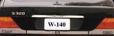 Kofferraum CHROM Zierleiste EDELSTAHL FÜR MERCEDES W140