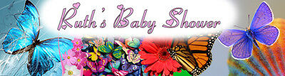 4ft Personalized Name Butterfly Garden Bridal Shower Happy Birthday Party - Happy Bridal Shower