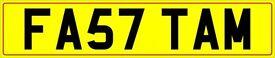 cherished,private registration number plate, Y27 TAM -SP07TAM -FA57 TAM
