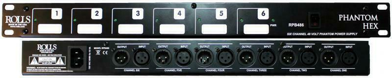 Rolls RPB486 Phantom Hex 6-Channel Phantom Power Supply