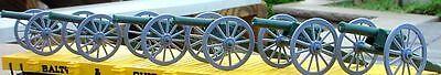 Civil War Cannon Miniatures (6) 1/24 Scale 1/32 Scale Scale Diorama Accessory