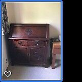 Oriental rosewood bureau / desk