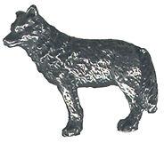 4 wholesale lead free pewter wolf figurines F6017