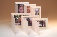 Kenro 6x4 Ivory View Format Photo Folders with Silver Trim Box of 50