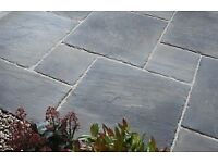Charcoal Riven Garden Slabs 2'x2' - CLEARANCE