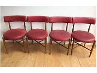 Four Vintage GPLAN G PLAN Dining Chairs