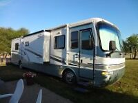 Monaco Knight Diesel 38 ft, 3 slides - low Mileage