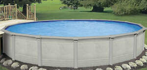 24 foot above ground swimming pool with accessories