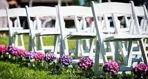 $3 HIRE 20 X White Americana chairs Landsdale Wanneroo Area Preview