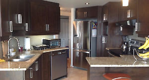 NEGOTIABLE-Home Appliances, washer & dryer, Fridge, and a stove