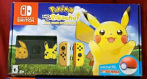 Nintendo Switch Pokémon Lets Go Pikachu Limited Edition NEW NEUF