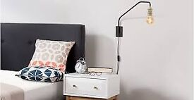 set of two black wall lamps from made . com