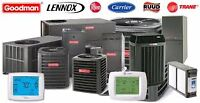 High Efficient Furnace / Central Air installations.