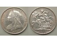 OLD ENGLISH SILVER COINS BEFORE 1920 WANTED