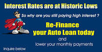 Refinance or borrow  auto loan and lower rate and/or payment.
