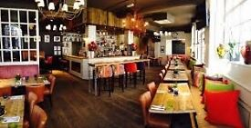 Full and part time bar and floor person/supervisor needed to join funky pub in South Kensington