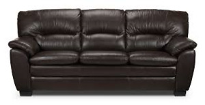 BEAUTIFUL BROWN LEATHER COUCH - LIKE NEW!!!