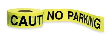 Zoro Select 1N954 Barricade Tape,Yellow/Black,1000Ft X 3In