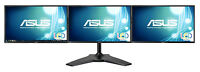 Triple Monitor ASUS VN248H + Mount-it! Stand Moniteur Ecran