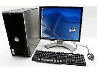 PROFESSIONALLY REFURBISHED DELL PC, 19 inch MONITOR KEYBOARD MOUSE 4GB RAM 250GB HDD 6 MTHS WARRANTY