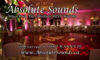 Absolute Sounds Disc Jockey Service.  Wedding DJs & Photo Booths