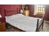 Double (4ft 6in) Iron and brass framed bed