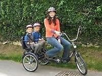 NICE RIDE FOR SALE! A Bike for you and the kids - unique top end tricycle with sunshade