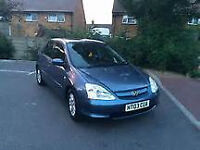 SUPERB HONDA CIVIC CTDI 1700 DIESEL IMAGINE. ., 55 MPG, ALLOYS, LONG MOT CHEAP TAX.