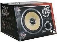 "vibe cbr 12"" subwoofer in enclosure, new in box 1600w"