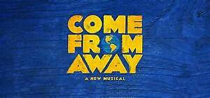 come from away tonight 8:00 2 seats ctr j 252/253
