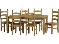 Used Corona 6' Dining Table with 4 Chairs