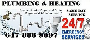 GTA PLUMBING REPAIRS OR INSTALL FAUCET-TOILET BIG OR SMALL JOBS