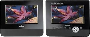 "Insignia - 7"" Dual-Screen Portable DVD Player - Multi Model: NS-"
