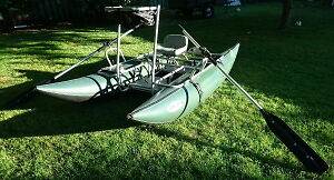 REDUCED! Pontoon boat with spare frame.