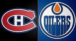 2 BILLET TICKET GRIS 303 A CENTRE CANADIENS EDMONTON McDavid