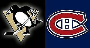 6 BILLETS TICKETS GRIS 313 PENGUINS CANADIENS DEAL 83$ 83$