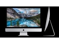 iMac silver all in one workstation