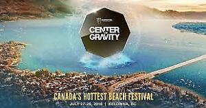 Center of Gravity wknd passes G.A. and VIP