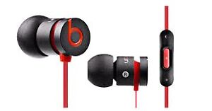 Black/red urbeats beatsbydre earbuds