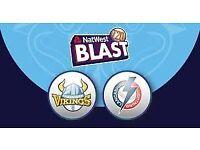 Yorkshire Vikings vs Lancashire Lightning T20 Blast 09-08-2018 06:30 pm 2 x Adult tickets