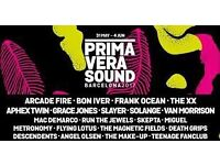 Primavera Sound Festival Ticket 1,2,3 June 2017