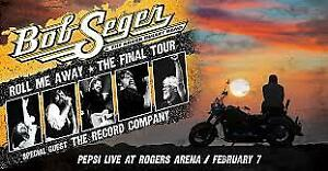 Bob Seger. Vancouver. Four Floor Seats, Row 26, Seats 43 to 46
