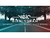 2 x Velo Birmingham 100 mile Cycle Event Entry Sportive