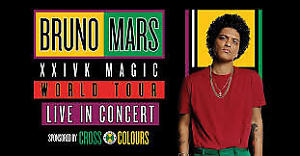 BRUNO MARS Toronto Concert Tickets (4) - September 22