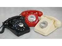 WANTED !!!! ANY BT / GPO HOUSE/OFFICE TELEPHONES WITH COILED CABLE