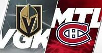 Vegas Golden Knights vs. Montreal Canadiens - Rouges/Reds