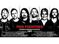 1 x Foo Fighter standing ticket London 23rd June