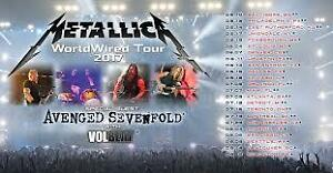 2 Metallica Tickets, 100 Level Sunday July 16 at  Rogers Centre